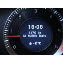 Volvo prietaisų skydelio DIM kalbos keitimas